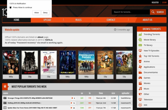 1337x.to torrent page
