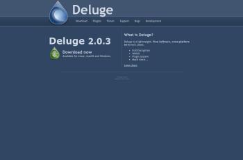 deluge-torrent.org screenshot