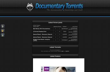www.documentarytorrents.com screenshot