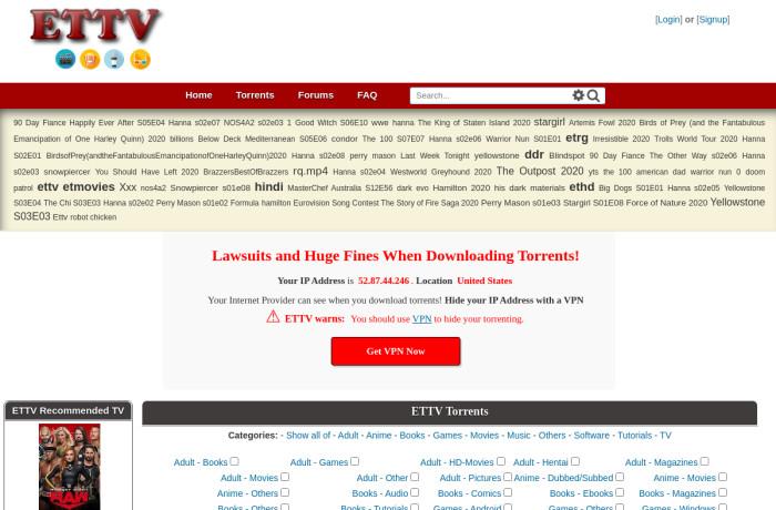 www.ettvdl.com torrent page