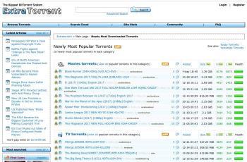 extratorrent.cd screenshot