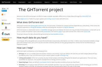 ghtorrent.org screenshot