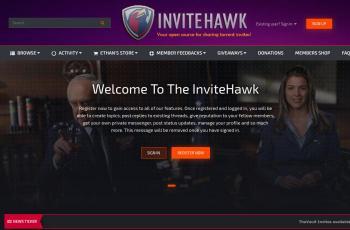 www.invitehawk.com screenshot
