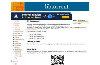 www.libtorrent.org screenshot
