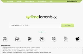 www.limetorrents.info screenshot