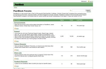 forums.peerblock.com screenshot