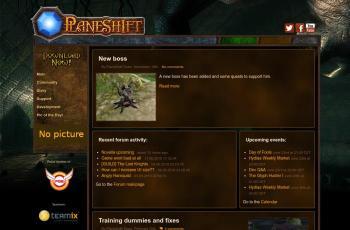 www.planeshift.it screenshot