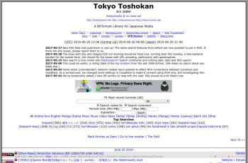 tokyotosho.info screenshot