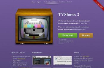tvshowsapp.com screenshot
