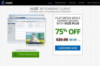 www.vuze.com screenshot