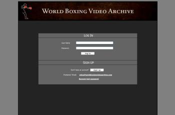 worldboxingvideoarchive.com screenshot