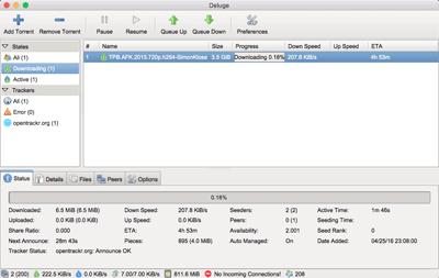 Deluge BitTorrent Client